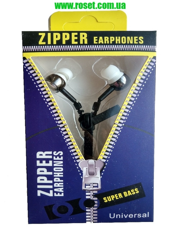Купить Наушники-молния Zipper Earphones