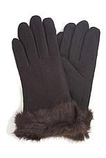 Перчатки трикотажные женские Темно-коричневые, фото 3