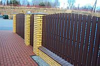 Забор металлический ШТАКЕТный  металлический 2,0 х 1,0м. стандарт, 2-сторонняя зашивка