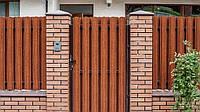 Забор металлический ШТАКЕТный  металлический 2,0 х 2,0м. стандарт, 2-сторонняя зашивка