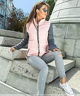 Оригинальная молодежная женская куртка на молнии