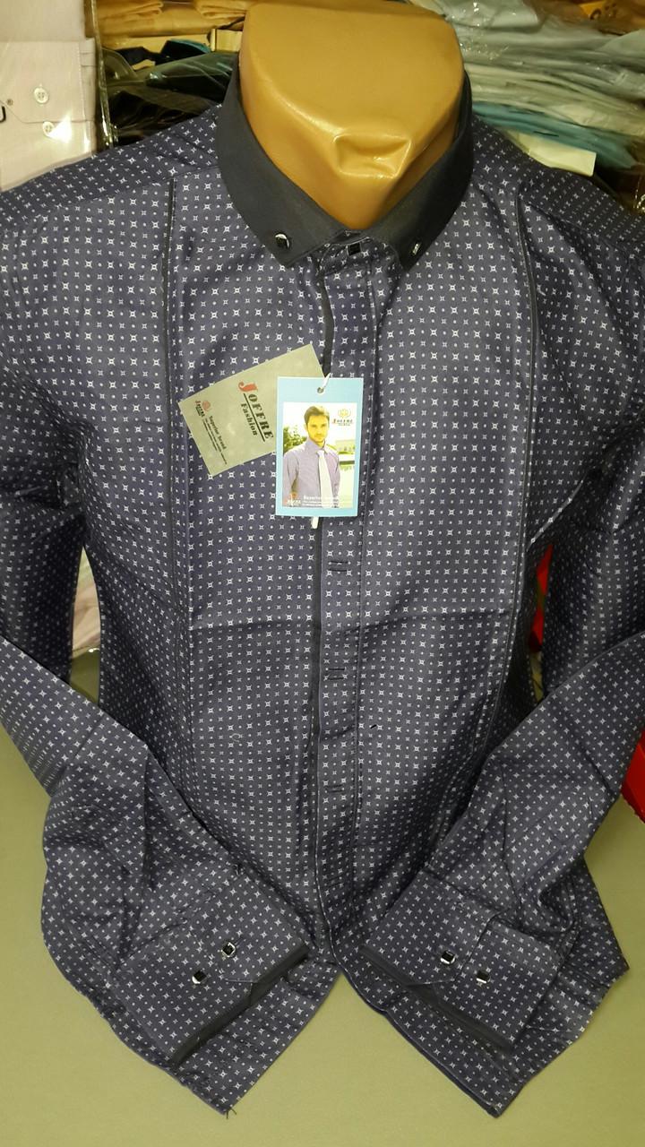 Приталенная рубашка BENDU полубатал (размер 3XL, 4XL, 5XL, 6XL, 7XL под заказ)