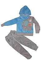 Детский велюровый костюм Слоник  голубой