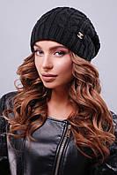 Черная шапка для девушек