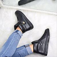 Ботинки женские Sneek черные 3658, ботинки женские