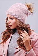 Молодежная шапка с ушками