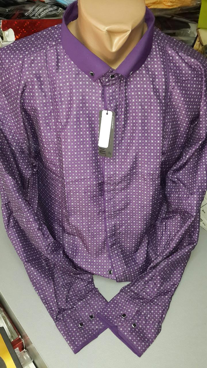 Приталенная рубашка BENDU полубатал (размеры 2XL,3XL,4XL,7XL+ под заказ)