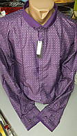 Приталенная рубашка BENDU полубатал (размеры 2XL,3XL,4XL,5XL,6XL,7XL)