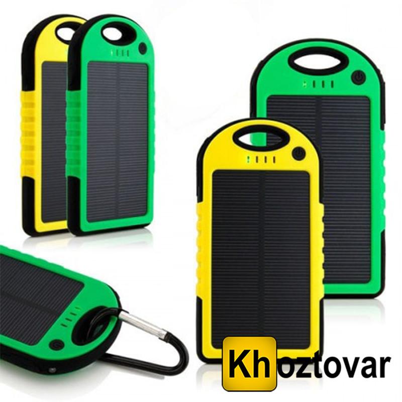 Внешний аккумулятор Solar Power Bank 5000 mAh | Повербанк с солнечной батареей