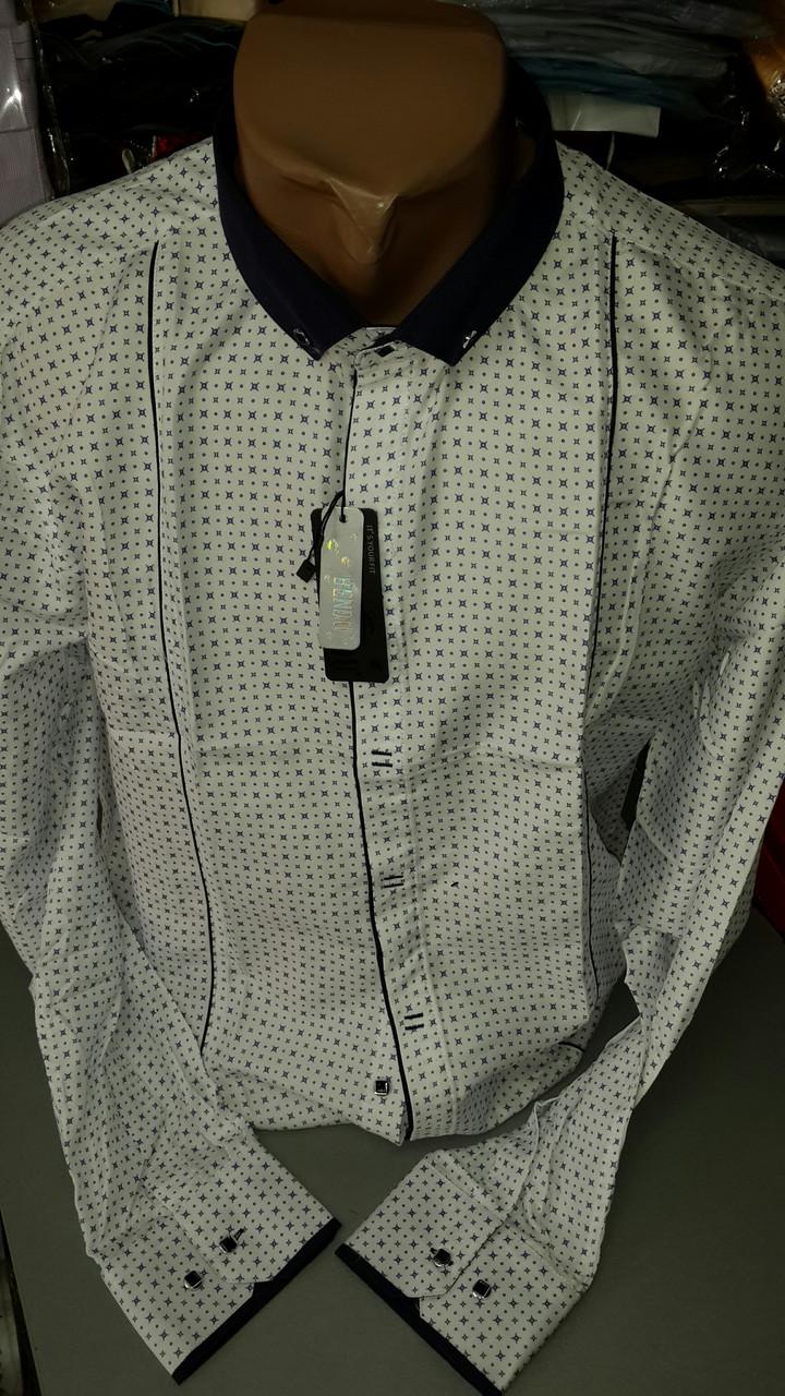 Приталенная рубашка BENDU полубатал (размер 2XL,3XL+ под заказ)