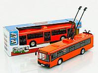 Игрушка Троллейбус (Автобус) 9690 ABCD инерционный Автопром. Свет, Звук, Двери открываются