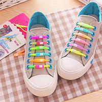 6шт Силиконовые ленивые шнурки  цветные