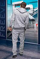 Мужской спортивный костюм светло-серый
