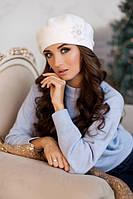 Зимний женский берет «Лира» Белый