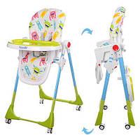 Детский стульчик для кормления Bambi (M 3553-12) с регулировкой столика