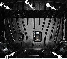 Защита двигателя Kia Soul (с 2008--) Полигон-Авто