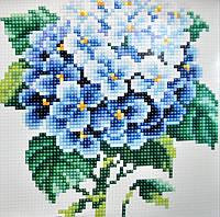 Картина из мозаики Бриллиантовые ручки (на подрамнике) Гортензія (на подрамнике) (GU_198817) 20 х 20 см
