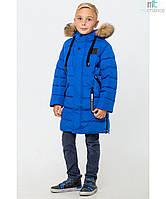 Зимнее теплое пальто на мальчика размеры 30- 44 рост 122-164