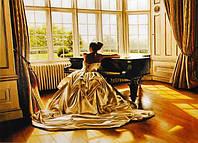 Набор алмазная вышивка Бриллиантовые ручки (на подрамнике) Піаністка (на подрамнике) (GU_198870) 30 х 40 см