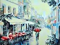 Алмазная вышивка Бриллиантовые ручки (на подрамнике) Прогулянка під парасолькою (на подрамнике) (GU_198873) 30 х 40 см