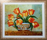 Набор алмазная мозаика Бриллиантовые ручки Тюльпани (GU_198897) 48 х 50 см