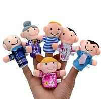 Набор: Пальчиковый театр, мягкие игрушки, человечки