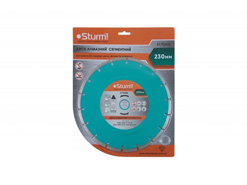 Диск алмазный сегментный (230x22 мм) Sturm 5170405