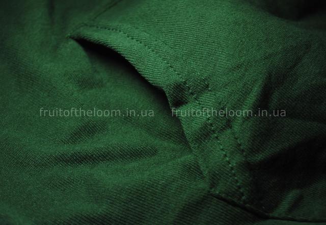Тёмно-зелёная мужская лёгкая толстовка с капюшоном