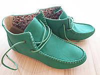 Женские мокасины на шнурках