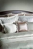 Шелковое постельное белье с антибактериальной защитой Глам Кремовый