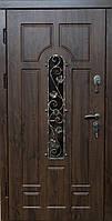 Двери бронированные с ковкой Арка Дуб бронзовый