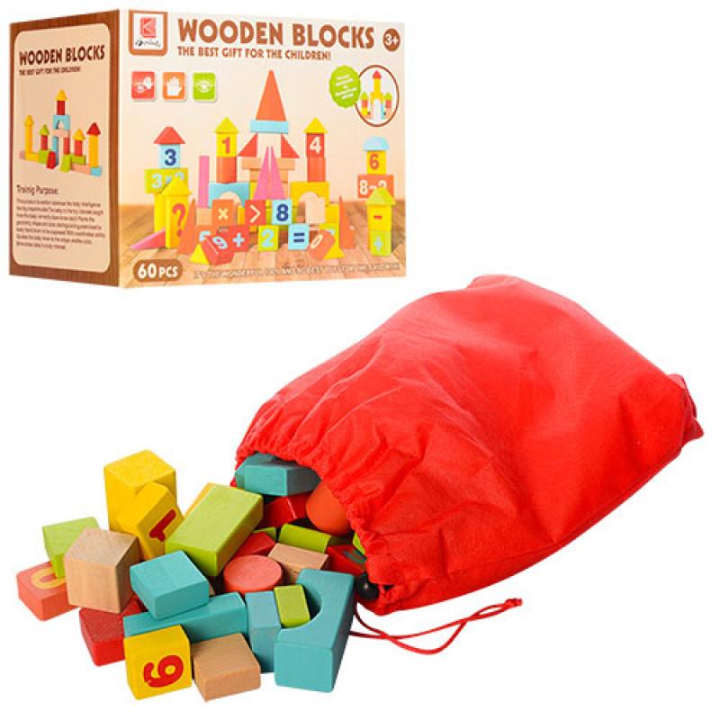 Деревянная игрушка Городок 0360 60 деталей