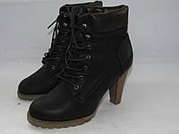 SDS _ Стильные ботинки на каблуку _Германия _ модные _ 36р_22 см Н61