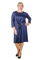 Красивое платье размер плюс Карла темно-синий (52-62)