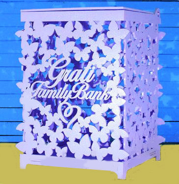 Свадебный сундучок для денег Family Bank белый