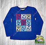Кофта трикотажная для мальчика Armani Jeans синяя, фото 2