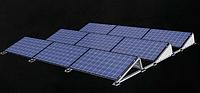 Балластная система крепления солнечных фотомодулей на плоскую крышу