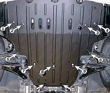 Защита двигателя Lexus LS-430 (2002-2006) Полигон-Авто