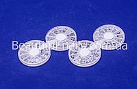 Набор страз в карусели для ногтей, серебро, фото 1
