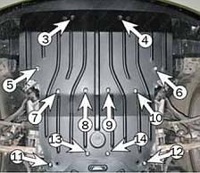Защита двигателя Lexus LS-460 4x4 (с 2008--) Полигон-Авто