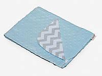 Детский плед-конверт Twins Minky Лето 75*75, голубой