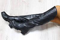 Зимние кожаные сапоги цвет : черный материал: натуральная кожа внутри утеплитель: полушерсть (евро)