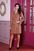 Женское пальто цвета кофе В-1008 EU-2559 Тон 4 44-54 размер