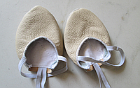 Получешки (полупальцы) телесные кожаные