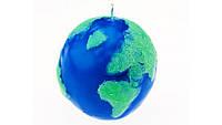 Свеча глобус  свеча земной шар