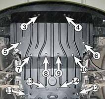 Защита двигателя Lexus LS-460 (с 2007--) Полигон-Авто