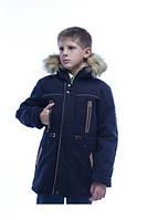 Детская ,зимняя, красивая, практичная, теплая, модная парка на мальчика р-34,36,38,40,42,44 цвет синий