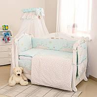 Детский постельный комплект Twins Comfort С-004 Котики, бирюза