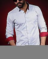 80a8c7ea978abaf Модная мужская рубашка воротник-стойка новинка 2018, цена 529 грн ...