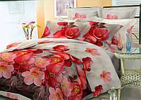 Комплект постельного белья семейный, полиэстер. Постільна білизна. (арт.8086)